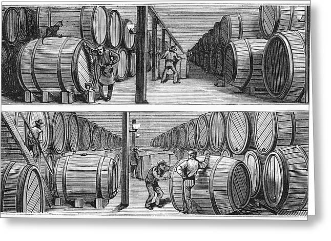 New York Wine Industry Greeting Card by Granger