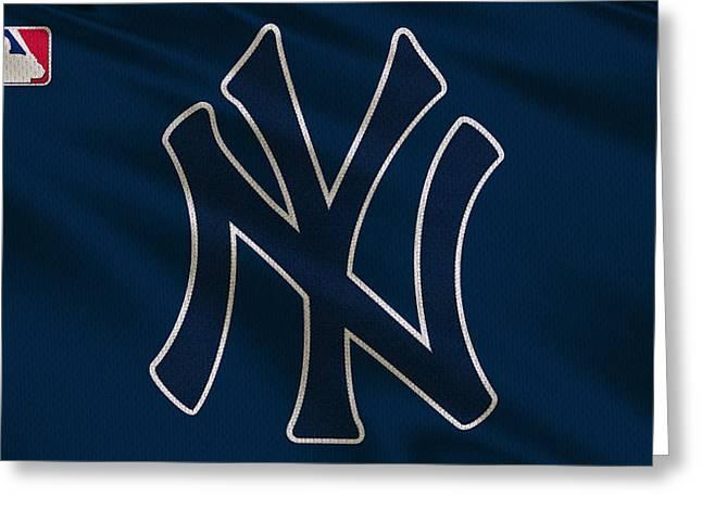 New York Yankees Uniform Greeting Card by Joe Hamilton