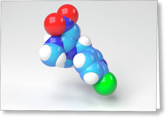 Nitenpyram Molecule Greeting Card by Indigo Molecular Images
