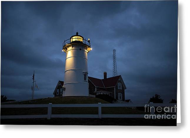 Nobska Lighthouse Greeting Card by John Greim