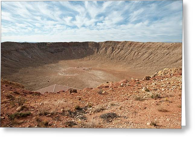 North America, Usa, Meteor Crater Greeting Card