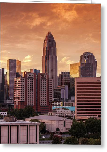 North Carolina, Charlotte, Elevated Greeting Card