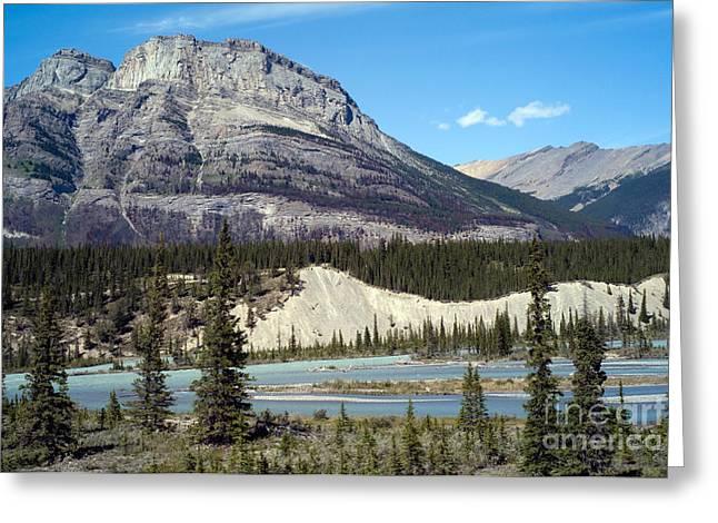 North Saskatchewan River Greeting Card by Rafael Macia