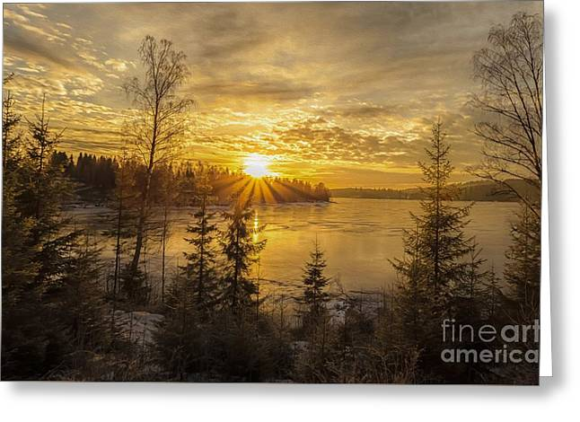 Greeting Card featuring the photograph Norway by Rose-Maries Pictures