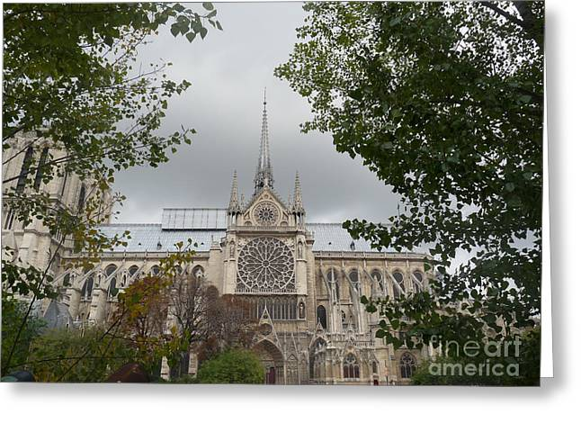 Greeting Card featuring the photograph Notre Dame Cathedral by Deborah Smolinske