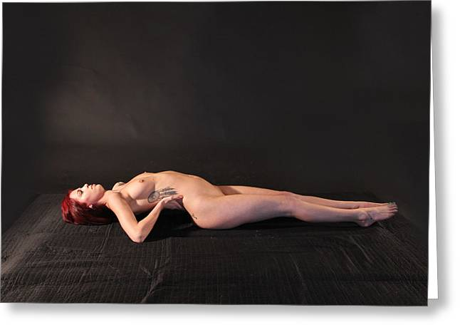 Nude Yoga- Fish Pose Greeting Card by Stephen Carver