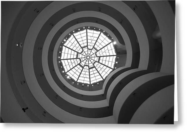 Nyc Guggenheim Greeting Card by Nina Papiorek