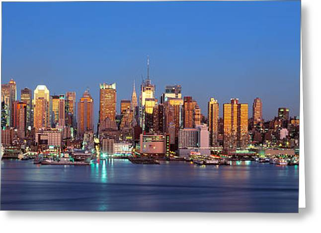 Nyc, New York City New York State, Usa Greeting Card by Panoramic Images