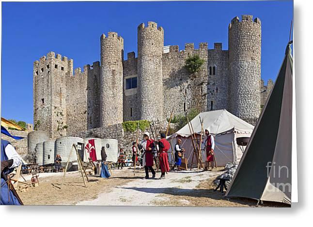Obidos Castle Greeting Card by Jose Elias - Sofia Pereira