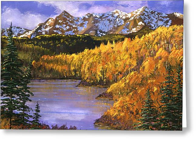 October Colors Greeting Card by David Lloyd Glover