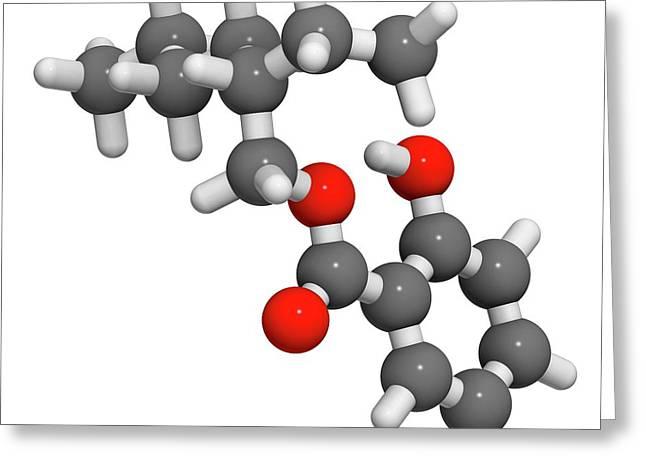 Octyl Salicylate Sunscreen Molecule Greeting Card