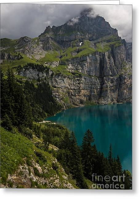 Oeschinensee - Swiss Alps - Switzerland Greeting Card