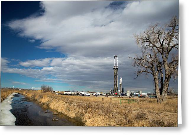 Oil Drilling Rig Greeting Card