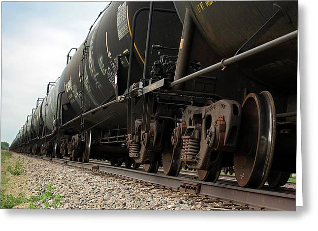 Oil Tanker Train Greeting Card by Jim West