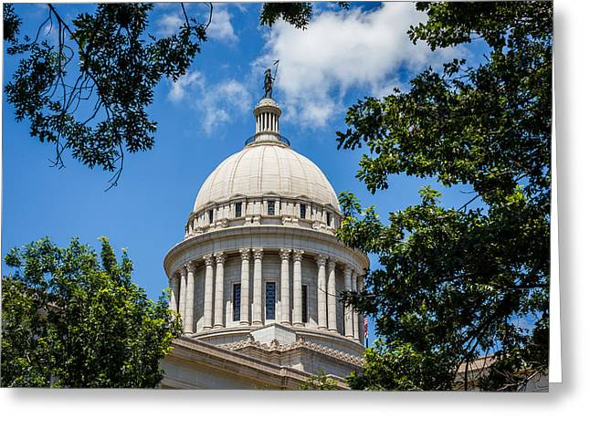 Oklahoma State Capital Dome Greeting Card