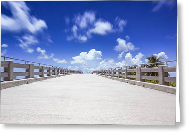 Old Bahia Honda Bridge Florida Keys Greeting Card
