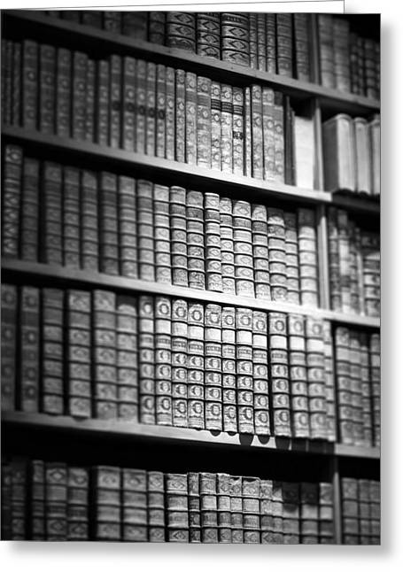 Old Books Greeting Card by Chevy Fleet