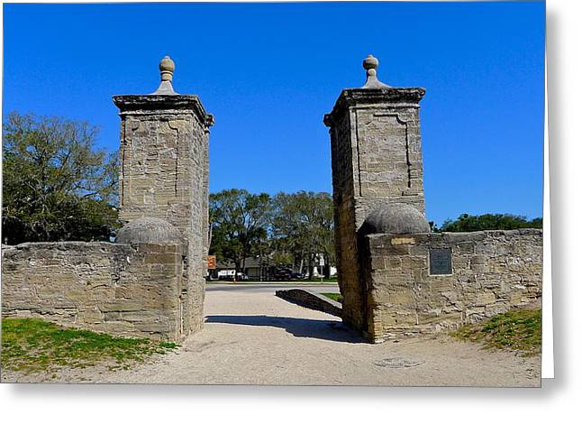 Old City Gates Of St. Augustine Greeting Card