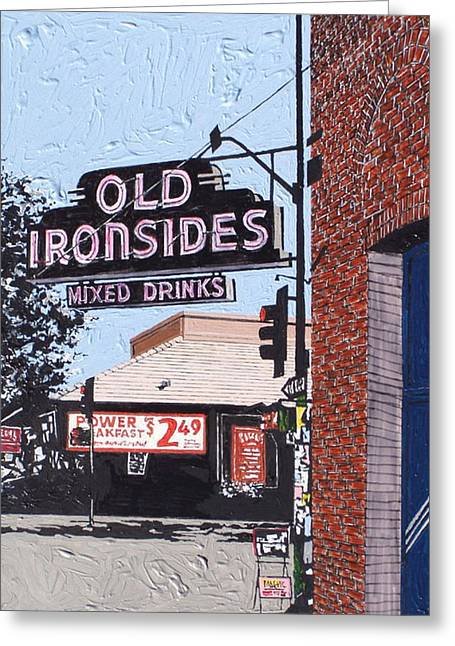 Old Ironsides Greeting Card by Paul Guyer