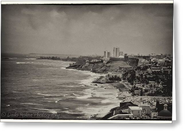 Old San Juan Greeting Card by Dado Molina