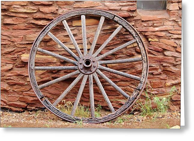Old Wagon Wheel 2 Greeting Card