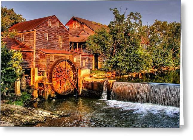 Old Water Mill Greeting Card by Ed Roberts