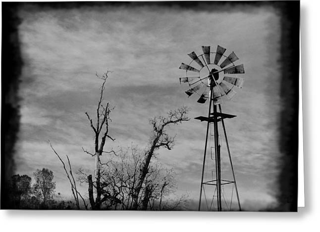 Old West Wind Wheel Greeting Card