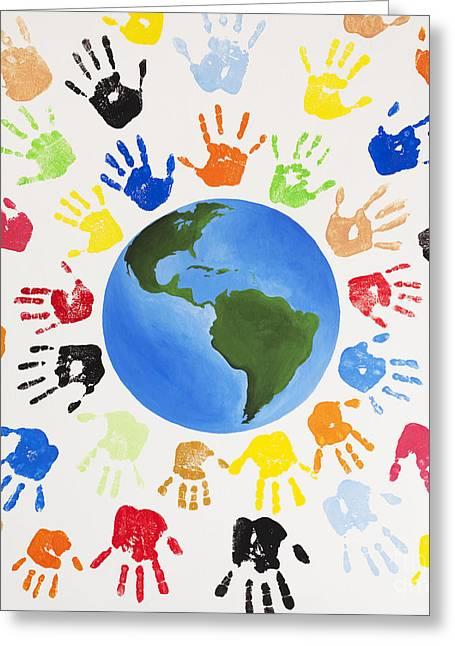 One World Greeting Card