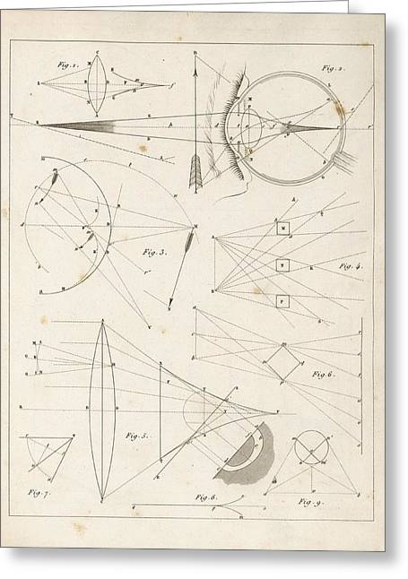 Optical Theories Of Drawing Greeting Card
