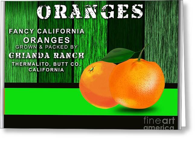 Orange Farm Greeting Card by Marvin Blaine