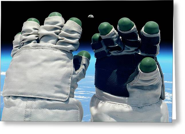 Orlan Spacesuit Gloves Greeting Card by Detlev Van Ravenswaay