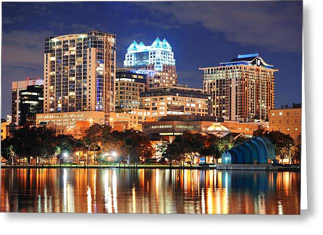 Orlando Downtown Architecture Greeting Card