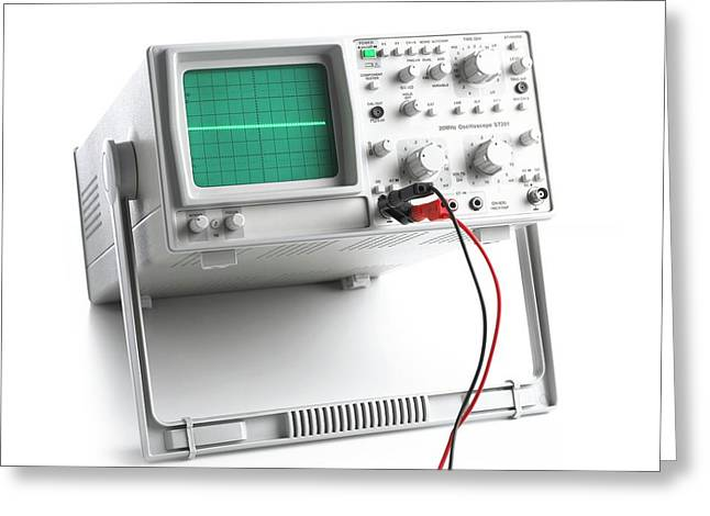 Oscilloscope Greeting Card by Science Photo Library