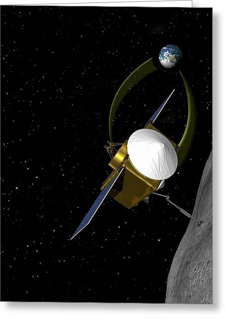 Osiris-rex Asteroid Mission Greeting Card by Nasa/goddard/university Of Arizona