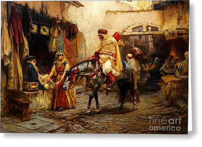 Ottoman Daily Life Scene Greeting Card by Celestial Images