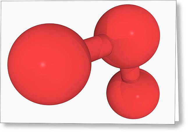 Ozone Oxygen Molecule Greeting Card by Laguna Design/science Photo Library