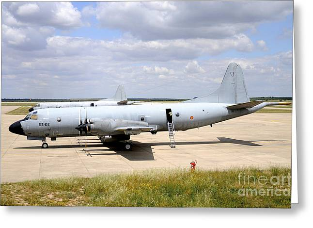 P-3m Orion Of The Spanish Air Force Greeting Card by Riccardo Niccoli