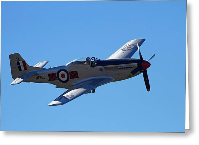 P-51 Mustang - American Fighter Plane Greeting Card
