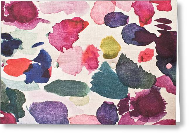 Paint Stains Greeting Card by Tom Gowanlock