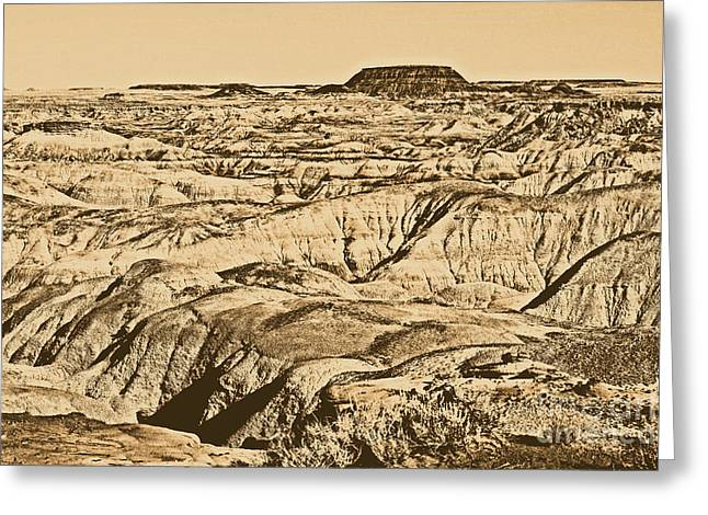 Painted Desert In Petrified Forest National Park Rustic Greeting Card