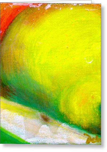 Pair Of Pears Greeting Card by Debi Starr