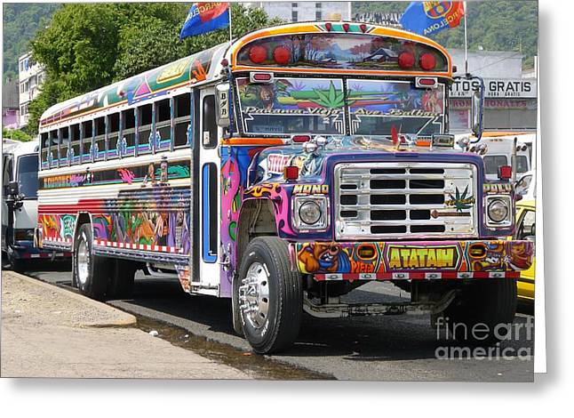 Panama Antigua Bus Greeting Card