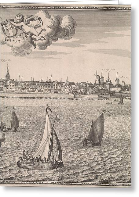 Panorama Of Rotterdam, The Netherlands, Jan Houwens Greeting Card by Jan Houwens (i) And Jacob Quack