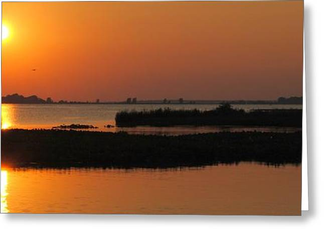 Panoramic Sunset Greeting Card by Frozen in Time Fine Art Photography