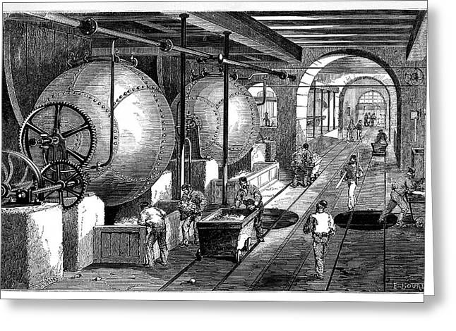 Paper Mill Greeting Card by Science Photo Library
