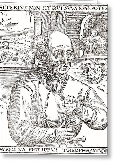 Paracelsus, Swiss Alchemist Greeting Card