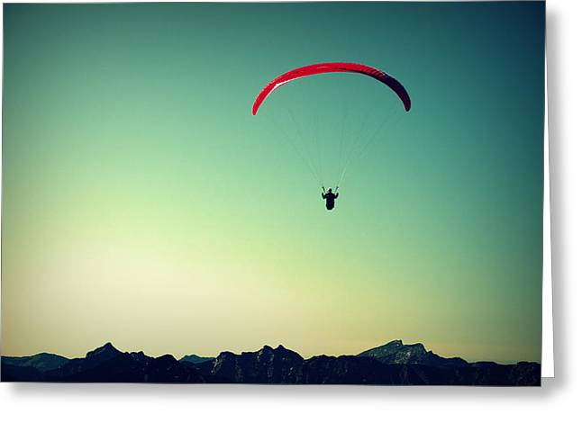 Paraglider Greeting Card by Chevy Fleet
