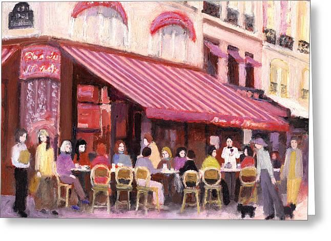 Paris Cafe Bar Greeting Card by J Reifsnyder