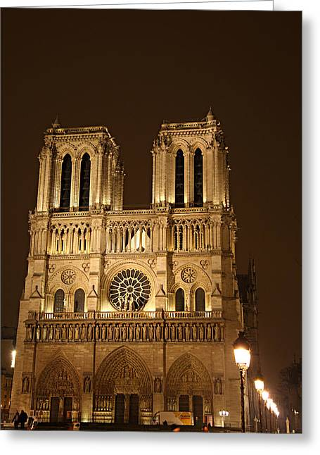 Paris France - Notre Dame De Paris - 01131 Greeting Card by DC Photographer