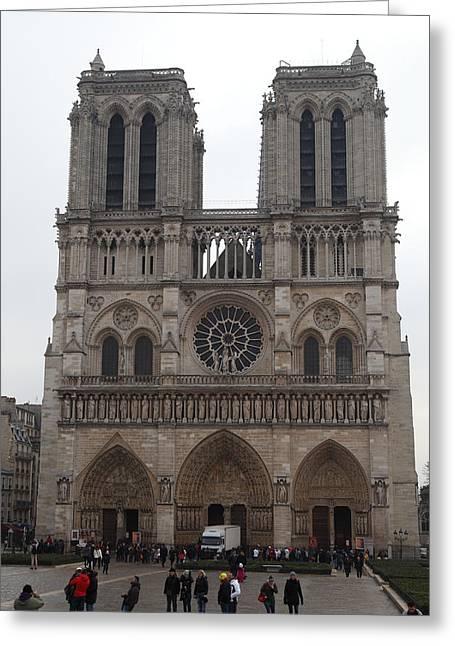 Paris France - Notre Dame De Paris - 01134 Greeting Card by DC Photographer